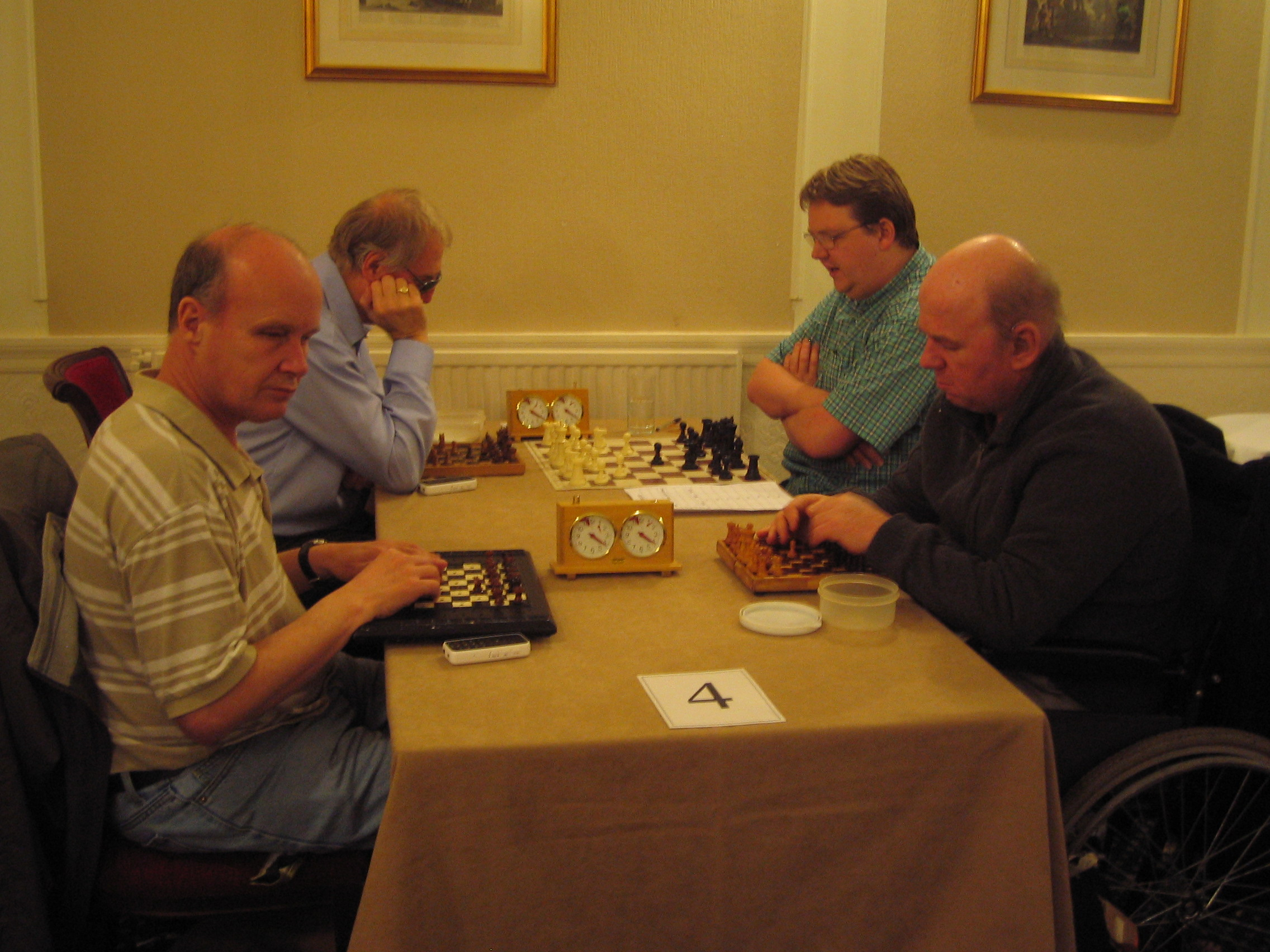 John Gallagher versus Steve Thacker and Phillip Gordon versus Tristram Cole