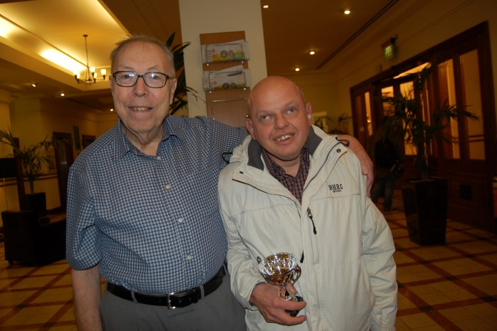 Description: Steve Brown was presented with his trophy by Peter Gibbs